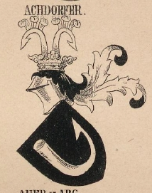 Achdorfer Coat of Arms / Family Crest 1