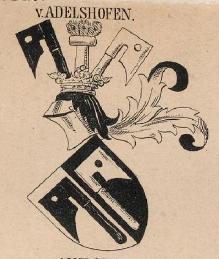 Adelshofen Coat of Arms / Family Crest 0
