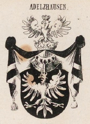 Adelzhausen Coat of Arms / Family Crest 1