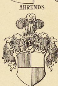 ahrends family crest coat of arms and name history