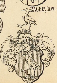 Rager Coat of Arms / Family Crest 1