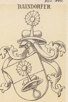 Raindorfer Coat of Arms / Family Crest 1