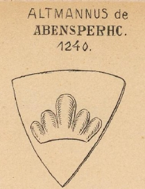 Abensperhc Coat of Arms / Family Crest 0