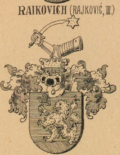 Raikovich Coat of Arms / Family Crest 1