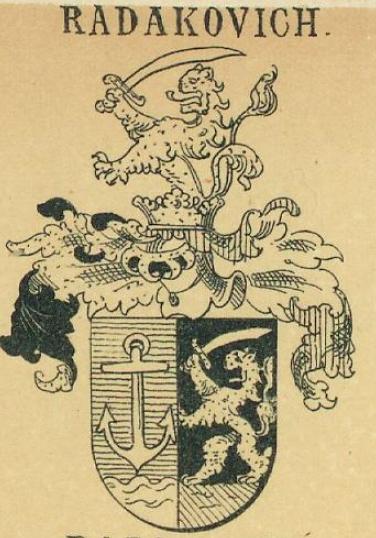 Radakovich Coat of Arms / Family Crest 1