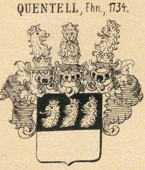 Quentell Coat of Arms / Family Crest 1