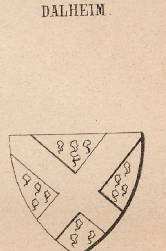 Dalheim Coat of Arms / Family Crest 0