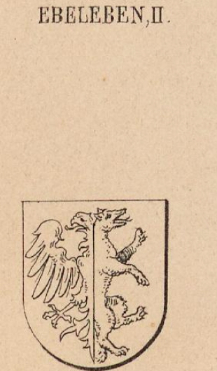 Ebeleben Coat of Arms / Family Crest 1