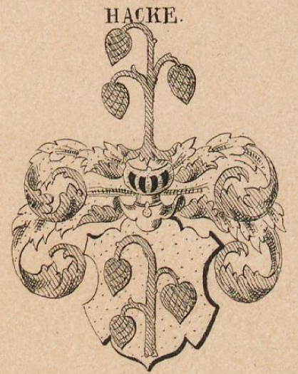 Hacke Coat of Arms / Family Crest 4