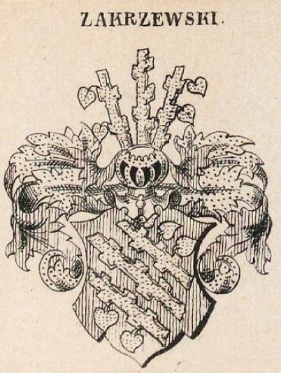 Zakrzewski Coat of Arms / Family Crest 1