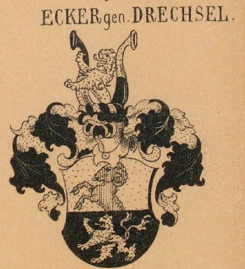 Ecker Coat of Arms / Family Crest 1
