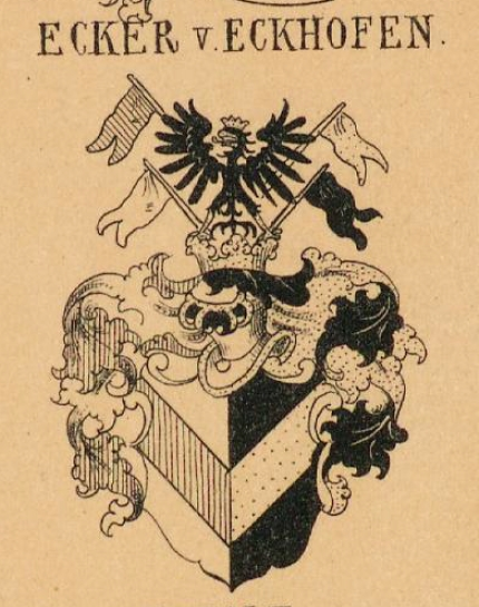 Ecker Coat of Arms / Family Crest 2