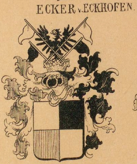 Ecker Coat of Arms / Family Crest 3