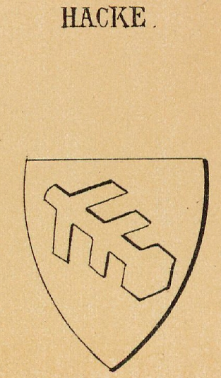 Hacke Coat of Arms / Family Crest 1