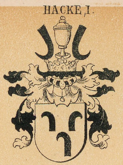 Hacke Coat of Arms / Family Crest 2