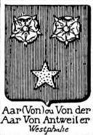 Aar Coat of Arms / Family Crest 0