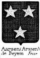 Aarsen Coat of Arms / Family Crest 0