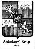 Abbekerk Coat of Arms / Family Crest 0
