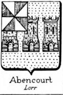 Abencourt Coat of Arms / Family Crest 0
