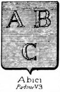Abici Coat of Arms / Family Crest 0