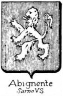 Abignente Coat of Arms / Family Crest 1