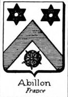 Abillon Coat of Arms / Family Crest 2
