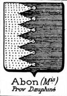 Abon Coat of Arms / Family Crest 0