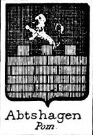 Abtshagen Coat of Arms / Family Crest 0