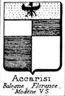 Accarisi Coat of Arms / Family Crest 1