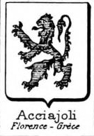 Acciajoli Coat of Arms / Family Crest 1