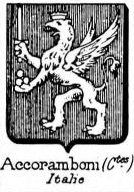 Accoramboni Coat of Arms / Family Crest 1