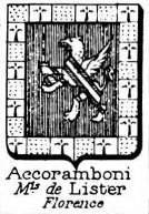 Accoramboni Coat of Arms / Family Crest 2