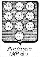 Acerac Coat of Arms / Family Crest 1