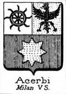 Acerbi Coat of Arms / Family Crest 1