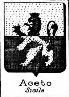 Aceto Coat of Arms / Family Crest 1