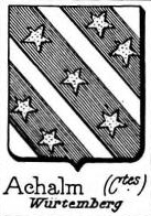 Achalm Coat of Arms / Family Crest 1