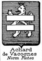 Achard Coat of Arms / Family Crest 8