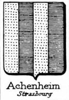 Achenheim Coat of Arms / Family Crest 1