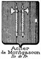 Acher Coat of Arms / Family Crest 1