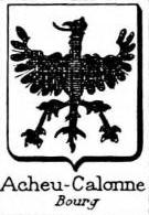 Acheu Coat of Arms / Family Crest 1