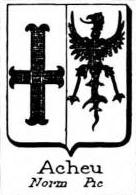 Acheu Coat of Arms / Family Crest 0