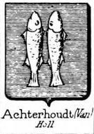 Achterhoudt Coat of Arms / Family Crest 0