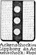 Ackenschock Coat of Arms / Family Crest 1