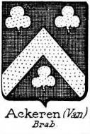 Ackeren Coat of Arms / Family Crest 1