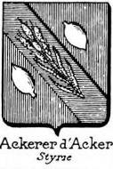 Ackerer Coat of Arms / Family Crest 0