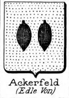 Ackerfeld Coat of Arms / Family Crest 0