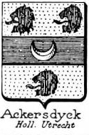 Ackersdyck Coat of Arms / Family Crest 0