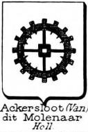 Ackersloot Coat of Arms / Family Crest 1