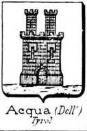 Acqua Coat of Arms / Family Crest 4