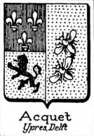 Acquet Coat of Arms / Family Crest 1